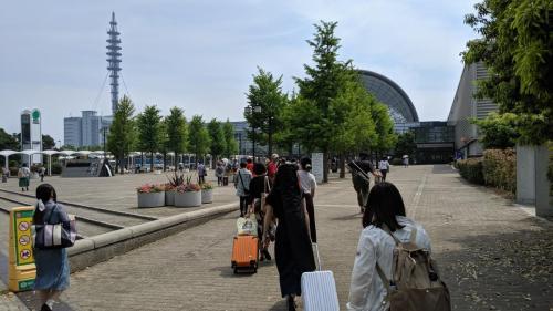 インテックス大阪が見えてきました