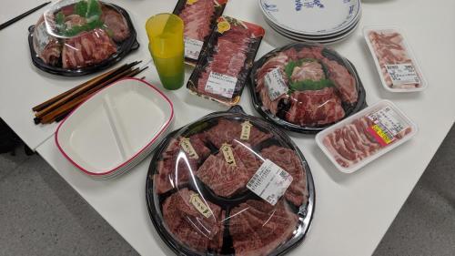 17時半から焼き肉で打ち上げ